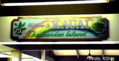 Lihue airport sign