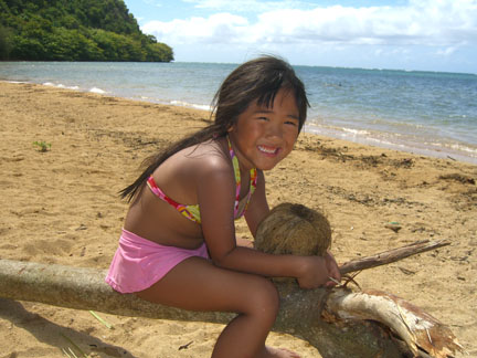 Sydney on Anini Beach