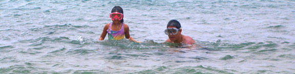 Poipu beach swimming