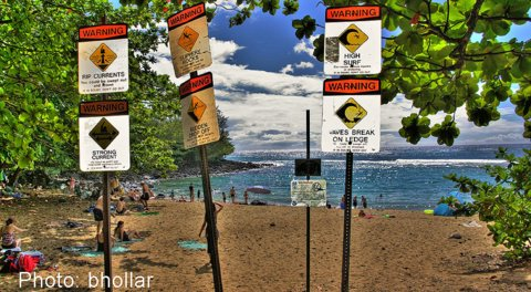 Ke'e Beach parking