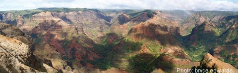 Waimea Canyon panorama view